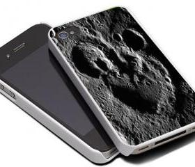 MICKEY MOUSE RELIEF ON THE MOON - iPhone 4 Case, iPhone 4s Case and iPhone 5 case Hard Plastic Case MSH